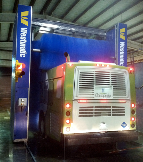 bus wash system